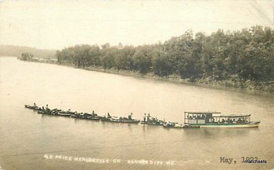 Party City Missouri (1923 Kansas City Missouri Pleasure Boating Party River Price Mercantile)