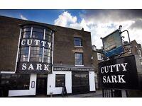 Kitchen Porter @ Cutty Sark in Greenwich