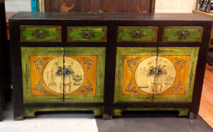 Chinese Gansu painted low  Cabinet