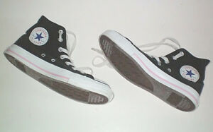 Converse All Star Black and Pink High Top Shoes Size 7.5 Womens London Ontario image 3