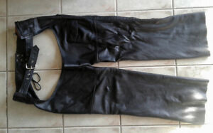Leather King Motorcycle Chaps 2XL Mint Condition