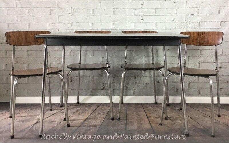 Vintage Mid Century Formica Table and Chairs/1960's Tavo