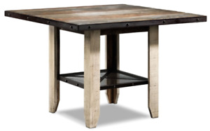 Allison Pub Height Table | Beautiful Wood Top | Made in Mexico
