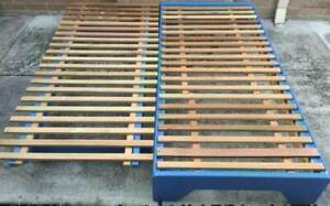 Good condition king size split wooden bed frame only for sale