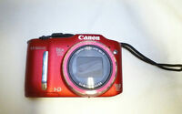 Canon PowerShot SX160 IS Digital Camera-red