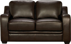 Chase Brown Faux Leather Loveseat