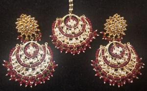 Kundan Earrings and Tikka Set