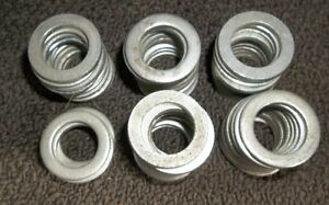 "ROUND ZINC WHEEL WASHERS 1 1/16"" & 1 1/8"" O/D X 1/8"" THICK"