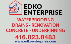 Basement Waterproofing  and Drains  Spring Special CALL NOW
