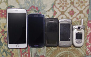 Cellphones (iPhone 6, Samsung, LG & Telus) for SALE!!