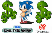 Cash for old video games! SEGA Genesis and Dreamcast!