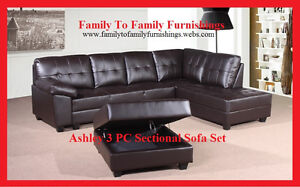 **SPRING SALE! 80% OFF** ASHLEY SECTIONAL +FREE OTTOMAN