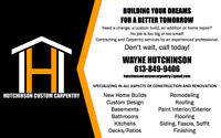 Custom Carpentry and Contracting - Experienced and Professional