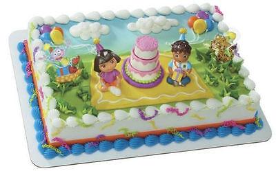 Dora the Explorer and Diego cake decoration Decoset cake topper set toys - Dora Cakes