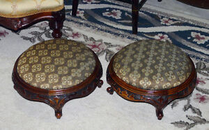 Matching Pair Antique Victorian Footstools