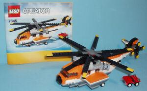 LEGO CREATOR no 7345, le TRANSPORT CHOPPER, 3 SETS en 1