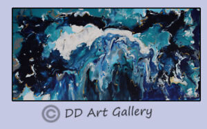 Original Abstract Painting on Wrapped Canvas