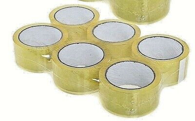 12 ROLLS CLEAR PARCEL PACKING TAPE CARTOON SEALING 48MM X 66M