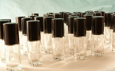 WHOLESALE DEAL 50Pc Glass Roll-on Roller ball Bottle,5mL fragrance oil NO LEAKS!