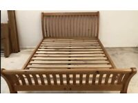 Solid pine king size bed frame by John Lewis great condition RRP £1000