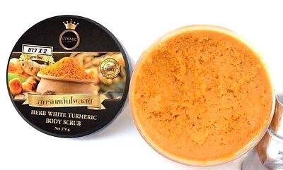 Thai Herb Herbal Natural Turmeric Body Scrub White Skin 370g : Best