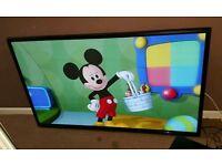 Lg 60 inch slim line HD tv with remote control