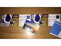 2 x NFL Sideline Tickets - Colts v Jaguars 02/10/16 Wembley London