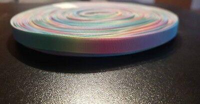 3677 Regenbogenfarben 9mm Breite Ripsband, Borte, Webband