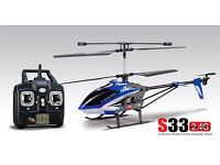 Syma S33 2.4G 3CH Helicopter With Gyro Blue remote controlled