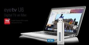 eyeTV U6 Digital TV on Mac. USB ATSC  over the air antenna tuner allows you FREE Live Local HDTV channels on your Apple