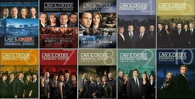 LAW and ORDER CRIMINAL INTENT Season 1-10 Complete Series 1 2 3 4 5 6 7 8 9