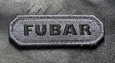 FUBAR TACTICAL MORALE ACU MILSPEC ARMY HOOK FASTENER PATCH