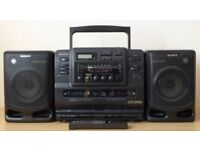 Sony CD Radio Cassette Recorder with remote and Instruction Manual