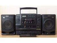 Sony CD Radio Cassette-Corder - Radio/CD player/Twin Deck Cassette Recorder/Player