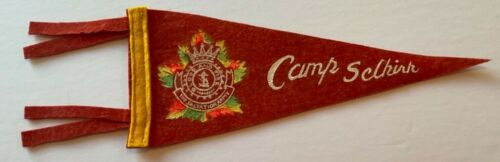 "VTG 1950-60's Camp Selkirk Ontario Salvation Army Blood & Fire 12"" Felt Pennant"