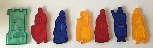 VINTAGE Set of  Seven (7) Robin Hood Flour Plastic Cookie Cutters