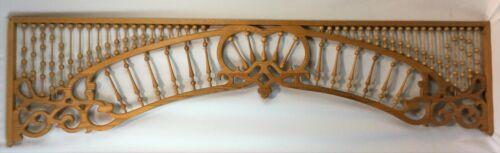 Vintage Oak Victorian Style 6 Ft. Fretwork Spandrel Ball & Stick Reproduction