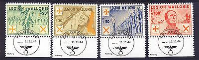 wwII Belgien Wallonische Legion 1939-45 Mi. I-IV gezähnt gestempelt Fälschung