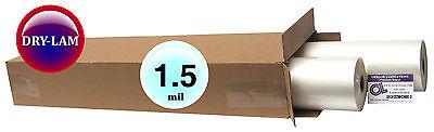 Drylam Standard Hot Laminating Roll Film 27-inch X 500 X 1 Core 1.5 Mil Pk 2