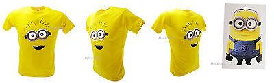 T-shirt Original Minions Gesicht Augen e Mund Gesicht Riese Erwachsene Kind BOB-