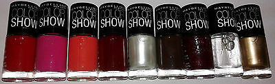 Color Show Nail Paint :: Maybelline :: 9 Shades of 6 ML each :: Nail Colour