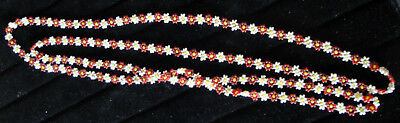 1930s Art Deco Style Jewelry Vintage 1930's Handmade Beaded Flower Necklace $95.00 AT vintagedancer.com