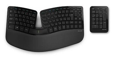 New Microsoft Wireless Sculpt Ergonomic Keyboard Ten Key Pad Port 5KV-00006