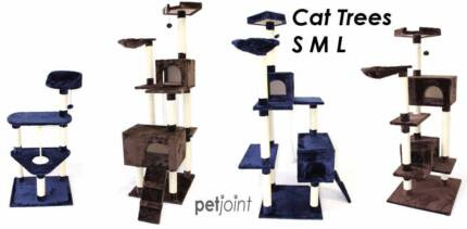 Cat Scratching Tree Post House Kennel Furniture Scratcher Poles M
