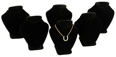 6 Black Velvet Necklace Jewelry Display Busts 2 58