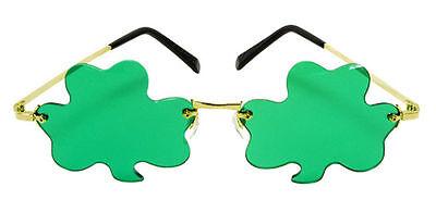 Shamrock Green sunGLASSES rimless shamrocks clovers leprechaun Irish Elope