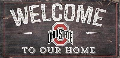 Ohio State Buckeyes Welcome to our Home - Wood Sign NEW 12