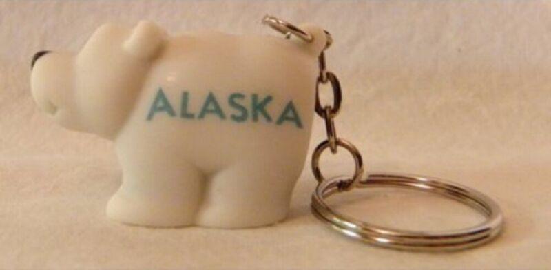 Alaska Pooping Polar Bear Key Chain