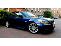 Beautiful BLUE BMW 5 Series 530d M Sports 3.0 Diesel Service History Private PlatePx