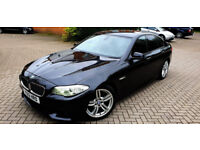 SUPERB GREY BMW 5 SERIES 3.0 530D M SPORT 2012 AUTOMATIC PADDLE SHIFT SAT NAV LEATHERS PX